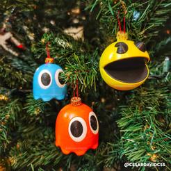 1.png Download STL file Pacman spheres / ornament • 3D print design, CesarSantana