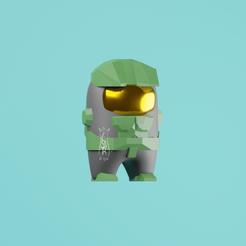 Download STL file Among Us Master chief No brackets! • 3D printable object, CesarSantana