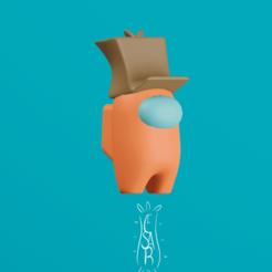 Gorro_bolsa.png Download STL file Among Us Box/ support free! • 3D printable object, CesarSantana