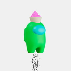 Cupcake.png Download STL file Among Us Cupcake/ support free! • 3D printer model, CesarSantana