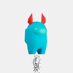 Cuernos.png Download STL file Among Us Horns/ support free! • 3D printable model, CesarSantana