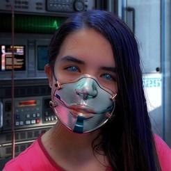 CyberMist_Mask - 01.jpg Download STL file CyberMist Mask • 3D printing model, boltian
