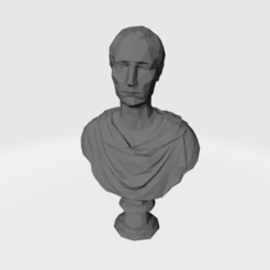 LouvrePortait-LowPoly.png Download STL file Man at the Louvre • 3D printer template, waalterlira