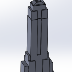 Download free 3D printer templates empire state building, anqufa