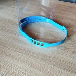 Descargar Modelos 3D para imprimir gratis visera protectora covid 19, Ergonome