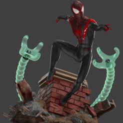 spider man final 1.png Download STL file Spiderman Miles Morales for print • 3D printing template, dlopes99