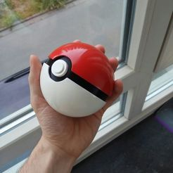 photo5805530590362055869.jpg Download free STL file Pokeball, Easy assembly, support included • Design to 3D print, DrBlue3D