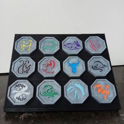 Descargar modelos 3D para imprimir Soporte talismanes zodiaco chino Jackie Chan, DrBlue3D