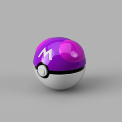 Masterball 1.png Download STL file MASTERBALL, EASY ASSEMBLY, BRACKET INCLUDED • 3D print design, DrBlue3D