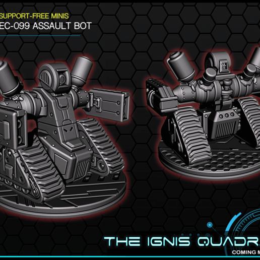 bot.png Download free STL file EC-099 Assault Bot - 28-32mm gaming • 3D printer template, ec3d