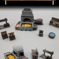 Descargar modelos 3D gratis Forja y taller de herrería - Juego de 28mm - Muestras, ec3d