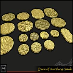 Descargar archivos 3D gratis El Imperio de las Arenas Ardientes - Bases Redondas, ec3d