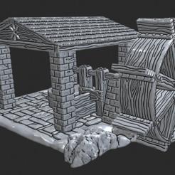 Descargar archivo 3D gratis OpenForge - Molino de rueda de agua al aire libre, ec3d