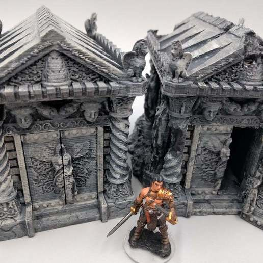 2018-02-13_08.47.08.jpg Download free STL file Tomb (Ruined and Intact) - 28mm gaming • Model to 3D print, ec3d