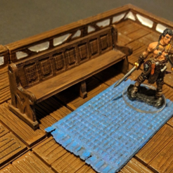 Download free 3D printing designs Church Pew - 28mm gaming, ec3d