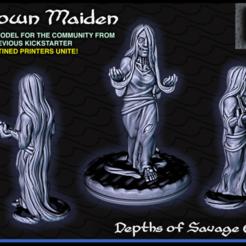 Descargar modelo 3D gratis Drown Maiden - 28mm Gaming - Profundidades del atolón salvaje, ec3d