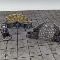 Descargar modelos 3D gratis DungeonSticks: Cavernas - Drow Web Walls, ec3d