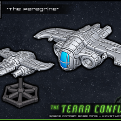 "PREVIEW.png Download free STL file ""The Peregrine"" - Space-combat scale mini • 3D printing design, ec3d"