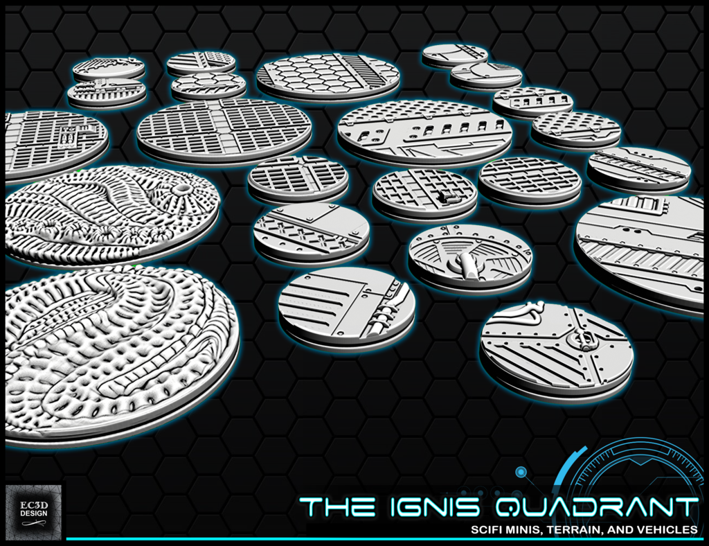 """b6.png Download free STL file 1"""" & 2' Round Bases - The Ignis Quadrant • 3D printing template, ec3d"""