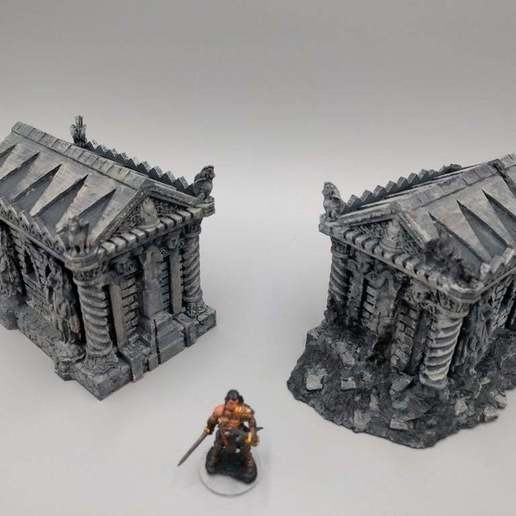 2018-02-13_08.46.35-2.jpg Download free STL file Tomb (Ruined and Intact) - 28mm gaming • Model to 3D print, ec3d