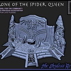 Imprimir en 3D gratis Trono de la Reina Araña - Juego de 28mm - Profundidades del atolón salvaje, ec3d
