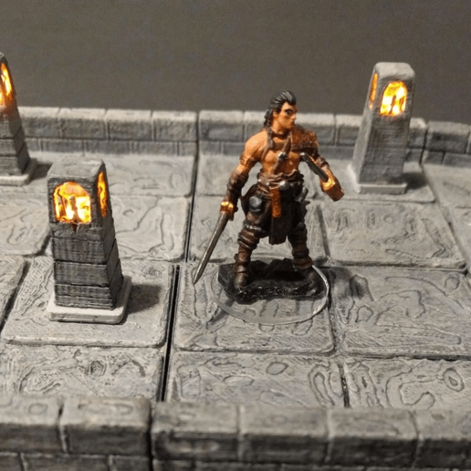 Download free 3D printing models Standing lamp - LED earring light - 28mm gaming, ec3d
