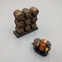Descargar modelos 3D gratis Pequeños barriles apilados - Dwarven AleWorks - 28mm, ec3d
