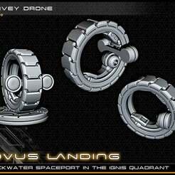 surveydrone_lowres.jpg Télécharger fichier STL gratuit Drone de surveillance - 28-32mm Gaming - Novus Landing • Plan pour imprimante 3D, ec3d