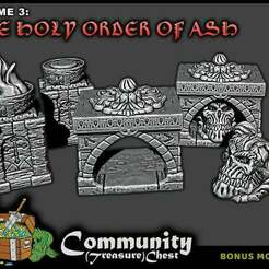 Scatter_-_LowRes.jpg Download free STL file Religious Relics and Brazier - 28mm • 3D printing template, ec3d