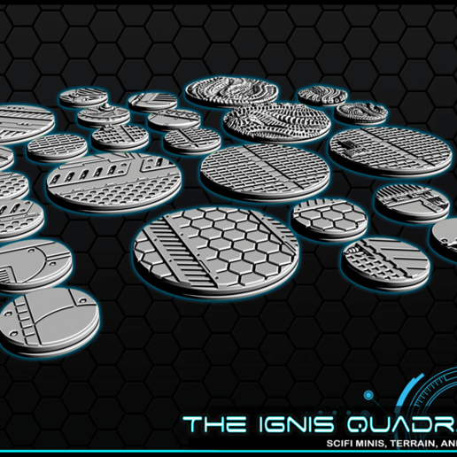 """b4.png Download free STL file 1"""" & 2' Round Bases - The Ignis Quadrant • 3D printing template, ec3d"""