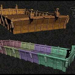 Download free STL file OpenForge - Modular River Barge • Object to 3D print, ec3d