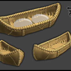 canoe.png Download free STL file OpenForge - Leather/Hide Canoe • 3D printing model, ec3d