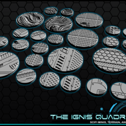 "b1.png Download free STL file 1"" & 2' Round Bases - The Ignis Quadrant • 3D printing template, ec3d"