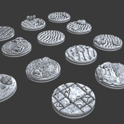 "Download free STL file 1"" Bases - Depths of Savage Atoll • 3D print template, ec3d"