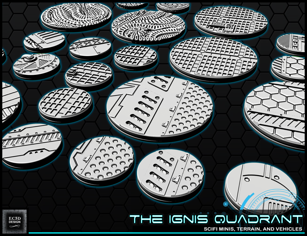 """b7.png Download free STL file 1"""" & 2' Round Bases - The Ignis Quadrant • 3D printing template, ec3d"""