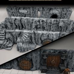 Imprimir en 3D gratis Modular Cliffs - 28mm gaming - Sample Items, ec3d