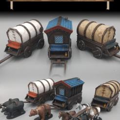 Imprimir en 3D gratis Caravanas - Modular - 28mm de juego - Muestras, ec3d