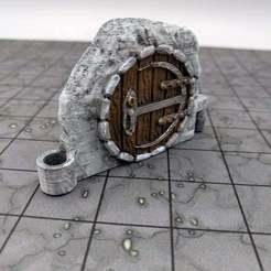 Descargar STL gratis DungeonSticks: Cavernas - Puerta Gnomish, ec3d