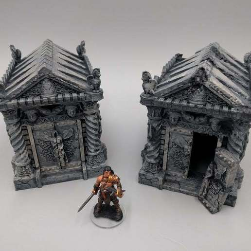 2018-02-13_08.46.02.jpg Download free STL file Tomb (Ruined and Intact) - 28mm gaming • Model to 3D print, ec3d