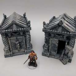Download free STL file Tomb (Ruined and Intact) - 28mm gaming • Model to 3D print, ec3d