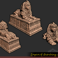Descargar archivos STL gratis Estatua de Sphynx - Juego de mesa, ec3d