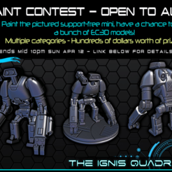 "pc1.png Download free STL file PAINT CONTEST - ""R-CEE"" Robot - 28-32mm gaming - The Ignis Quadrant • 3D printable template, ec3d"