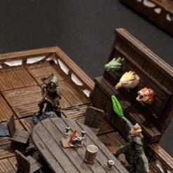 Télécharger objet 3D gratuit Clip mural en bois pour TrueTiles - jeu 28mm, ec3d