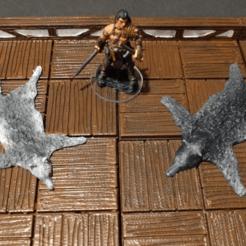 Télécharger fichier impression 3D gratuit Wolf Pelt / Rug - jeu 28mm, ec3d