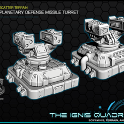 turret.png Download free STL file Planetary Missile Defense Turret - Tabletop Gaming - The Ignis Quadrant • 3D printable template, ec3d