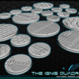 """b5.png Download free STL file 1"""" & 2' Round Bases - The Ignis Quadrant • 3D printing template, ec3d"""