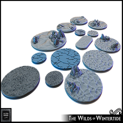 "Descargar modelo 3D gratis Bases de 1 - 3"" - Wilds of Wintertide, ec3d"