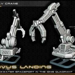 grav_crane_lowres.jpg Télécharger fichier STL gratuit Grue à cargaison volante - 28-32mm Gaming - Novus Landing • Modèle pour imprimante 3D, ec3d