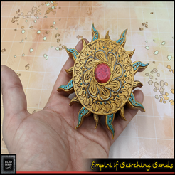med2.png Download free STL file Sun Medallion - RPG Prop • 3D print template, ec3d