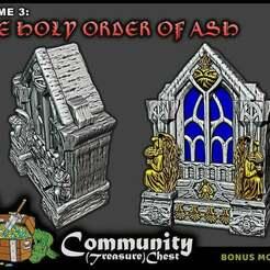 ShrineLarge_-_LowRes.jpg Download free STL file Large Religious Shrine - 28mm • 3D printing template, ec3d
